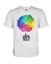 Mandala house V-Neck T-Shirt thumbnail