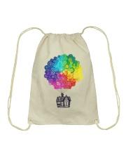 Mandala house Drawstring Bag thumbnail