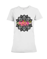 Mandala flowers Premium Fit Ladies Tee thumbnail