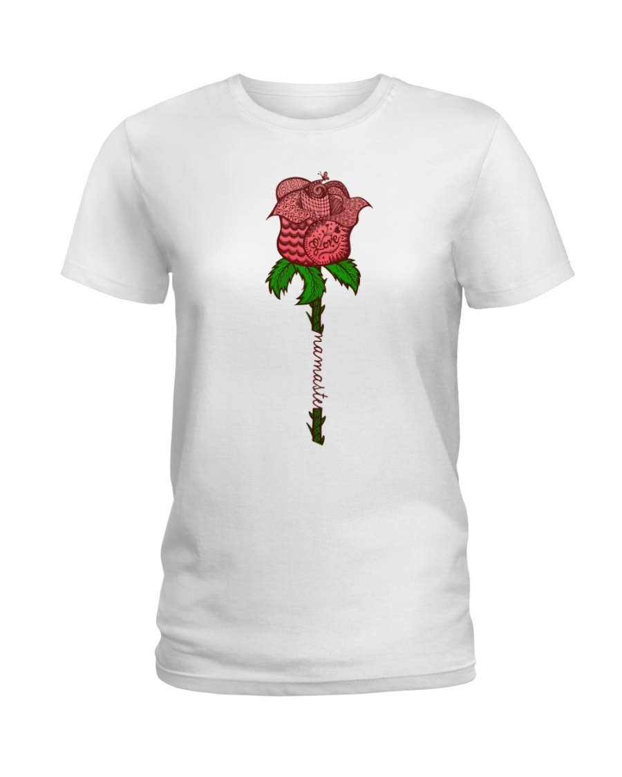 Rose namaste Ladies T-Shirt