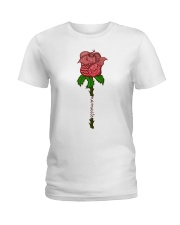 Rose namaste Ladies T-Shirt front