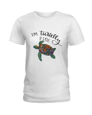I am turtelly fine Ladies T-Shirt front