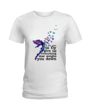 Give up everything that weights you down Ladies T-Shirt front