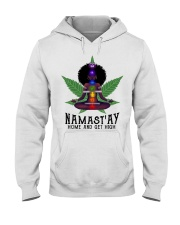 Namastay home and get hight Hooded Sweatshirt thumbnail