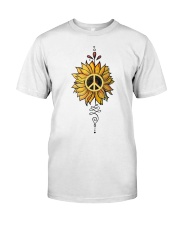 Sunflower peace Classic T-Shirt front