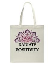 Radiate positivity Tote Bag thumbnail