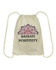 Radiate positivity Drawstring Bag thumbnail