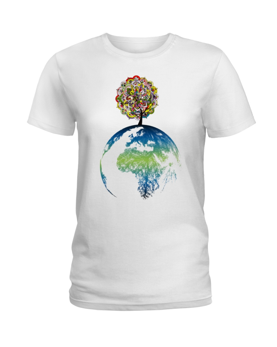 Mandala tree Ladies T-Shirt