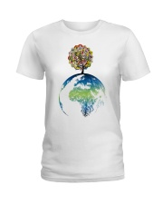 Mandala tree Ladies T-Shirt front