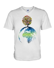 Mandala tree V-Neck T-Shirt thumbnail