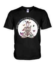 Quiet the mind V-Neck T-Shirt thumbnail