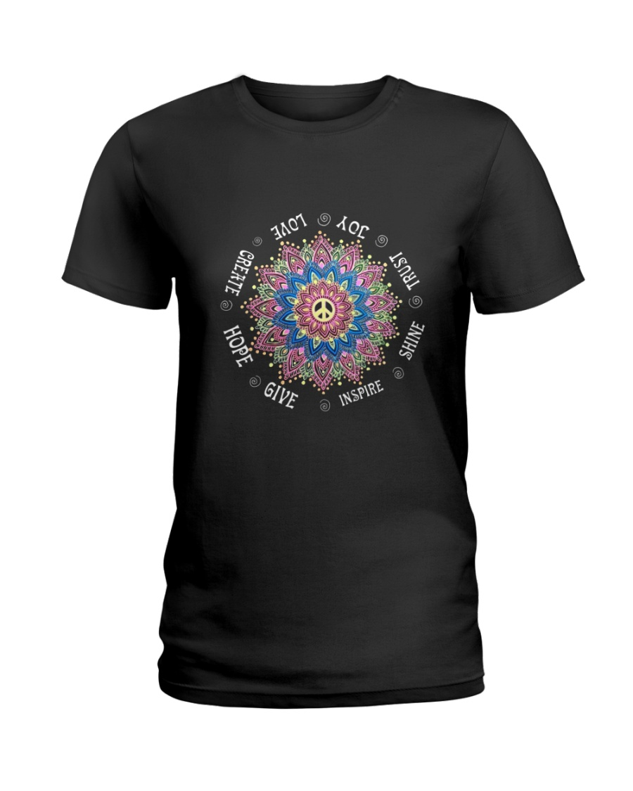 Trust joy love create hope Ladies T-Shirt