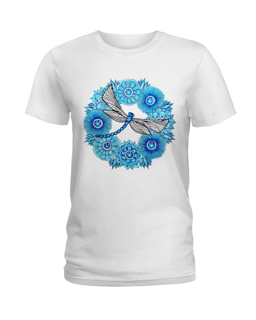 Mandala Dragonfly Ladies T-Shirt