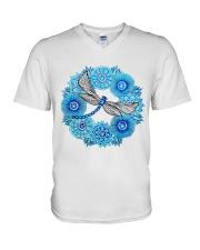 Mandala Dragonfly V-Neck T-Shirt thumbnail