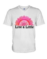 Live a little V-Neck T-Shirt thumbnail