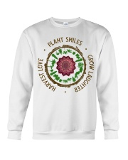 Plant smiles grow laughter harvest love Crewneck Sweatshirt thumbnail