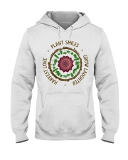 Plant smiles grow laughter harvest love Hooded Sweatshirt thumbnail