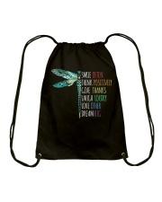 Smile often-Think positively-Dream big  Drawstring Bag thumbnail