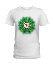 Peacock Om Ladies T-Shirt front