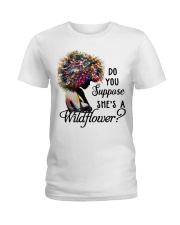 She's a wildflower Ladies T-Shirt front