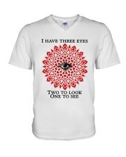 I have three eyes V-Neck T-Shirt thumbnail