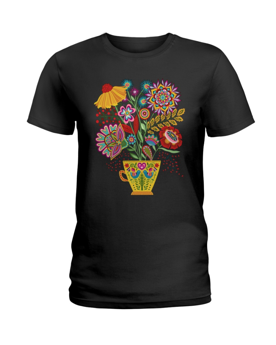 Mandala flowers Ladies T-Shirt