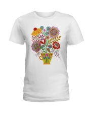 Mandala flowers Ladies T-Shirt tile