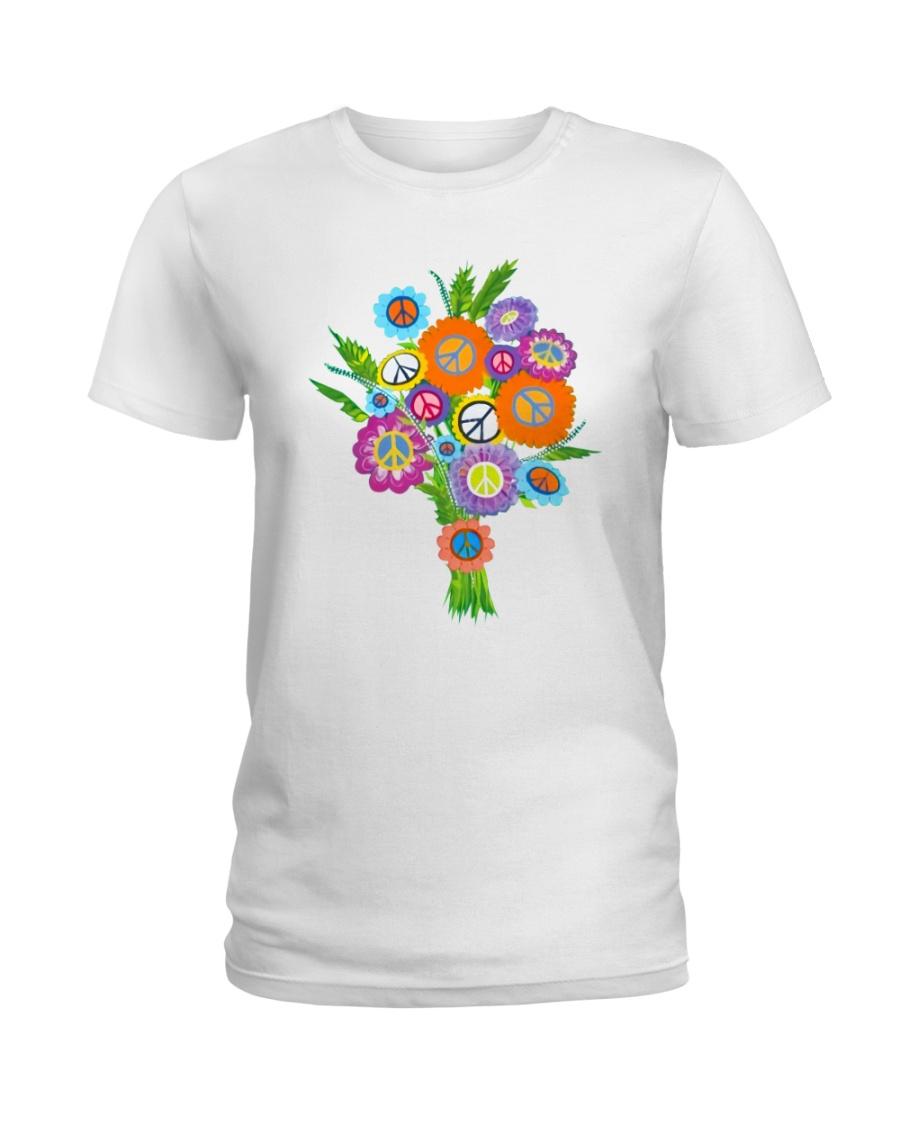 Peace Flower Ladies T-Shirt