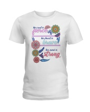Her soul is fierce her heart is brave  Ladies T-Shirt front
