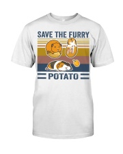 Mountain Guinea Pig Save the furry potato shirt Classic T-Shirt tile