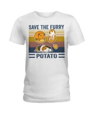 Mountain Guinea Pig Save the furry potato shirt Ladies T-Shirt thumbnail