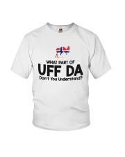 UFFDA WHITE Youth T-Shirt thumbnail