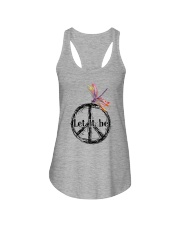 Let It Be Ladies Flowy Tank tile