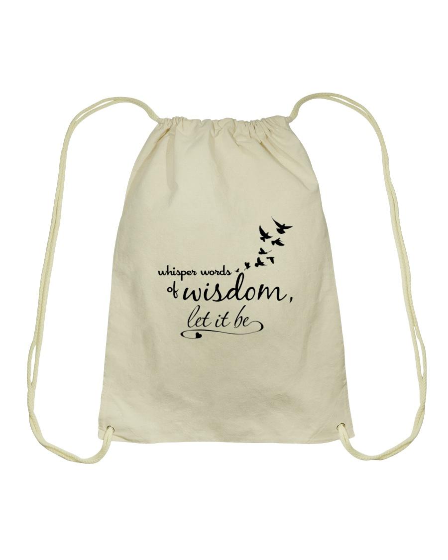 Whisper World Of Wisdom Let It Be Hippie  Drawstring Bag