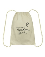 Whisper World Of Wisdom Let It Be Hippie  Drawstring Bag thumbnail