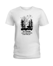 Go Outside Camping Ladies T-Shirt thumbnail