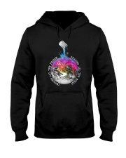 Sharing All The World Hooded Sweatshirt thumbnail