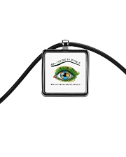 Myself What A Wonderful World Cord Rectangle Necklace thumbnail