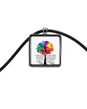 And I Think To Myself Cord Rectangle Necklace thumbnail