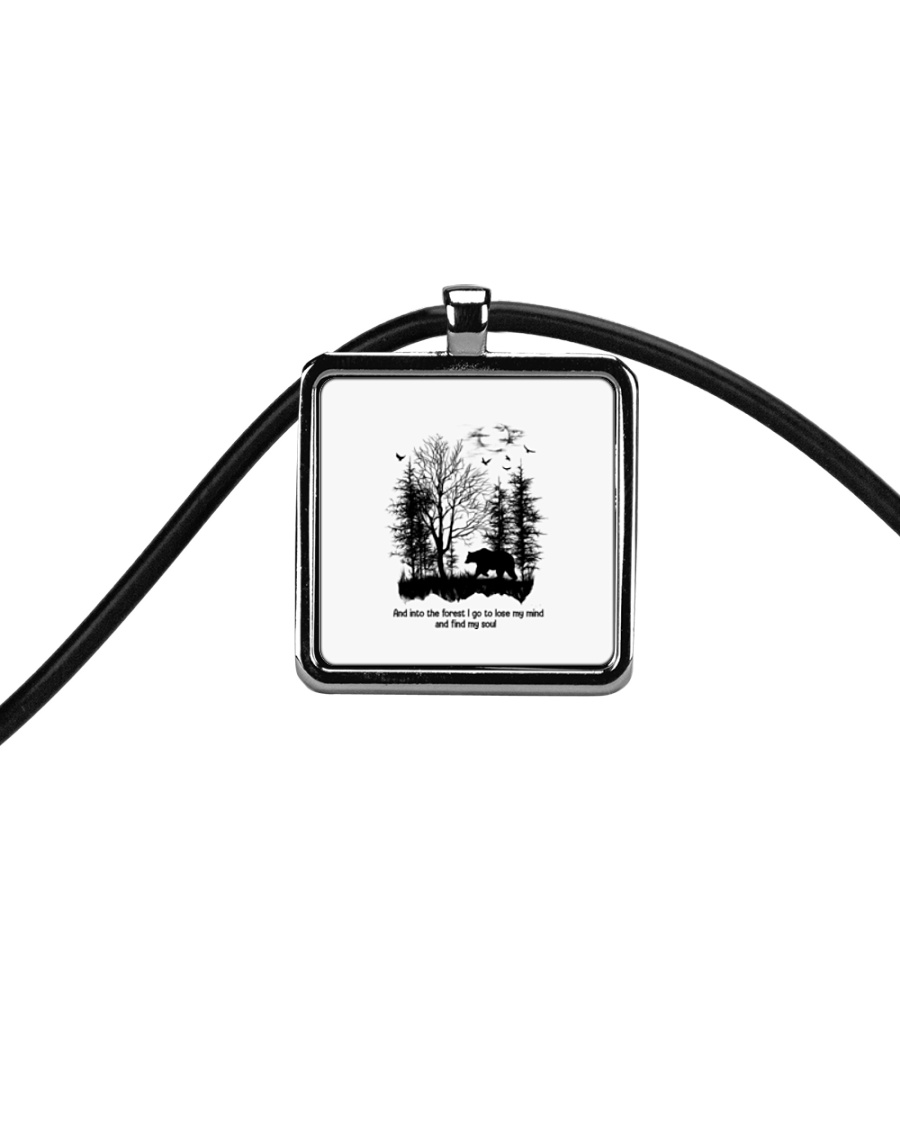 And Into The Forest Hippie  Cord Rectangle Necklace