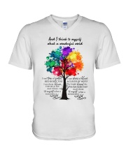 And I Think To Myself  V-Neck T-Shirt thumbnail