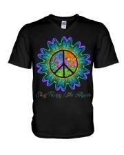 Stay Trippy Little Hippie V-Neck T-Shirt thumbnail
