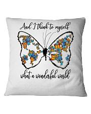 Myself What A Wonderful World Square Pillowcase thumbnail