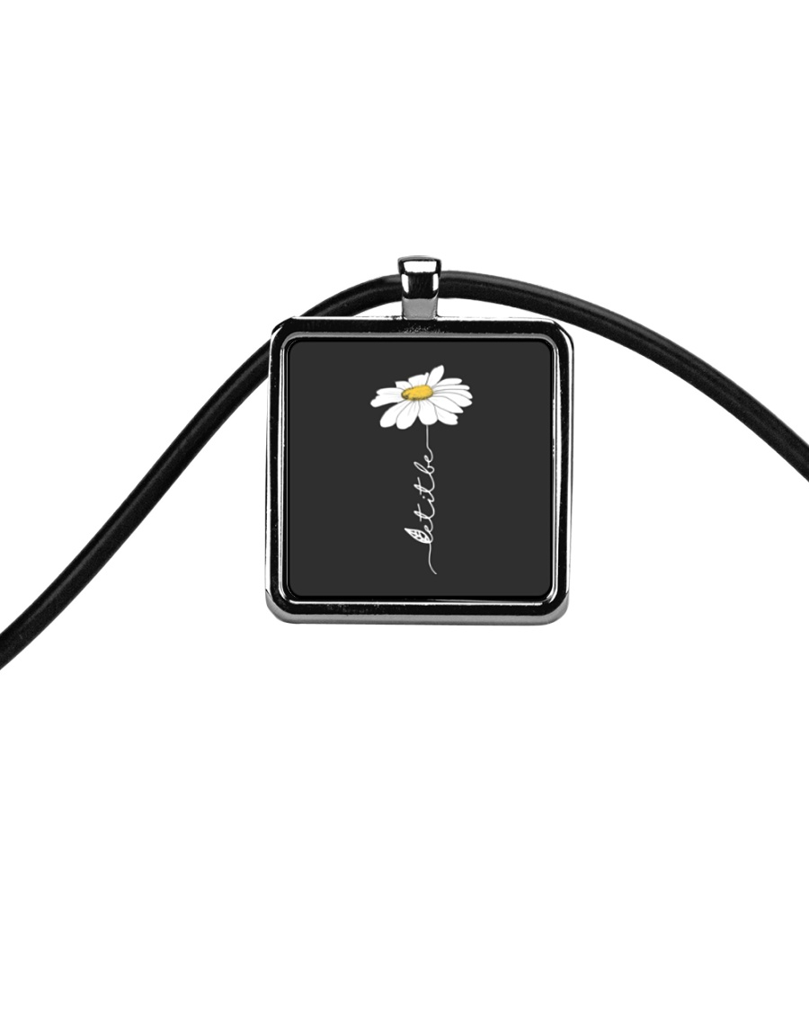 Let It Be Flowers Last Cord Rectangle Necklace