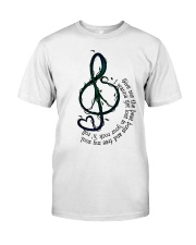 Rock And Roll Peace Love Music Hippie  Classic T-Shirt thumbnail