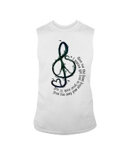 Rock And Roll Peace Love Music Hippie  Sleeveless Tee thumbnail