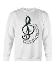 Rock And Roll Peace Love Music Hippie  Crewneck Sweatshirt thumbnail