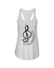Rock And Roll Peace Love Music Hippie  Ladies Flowy Tank thumbnail