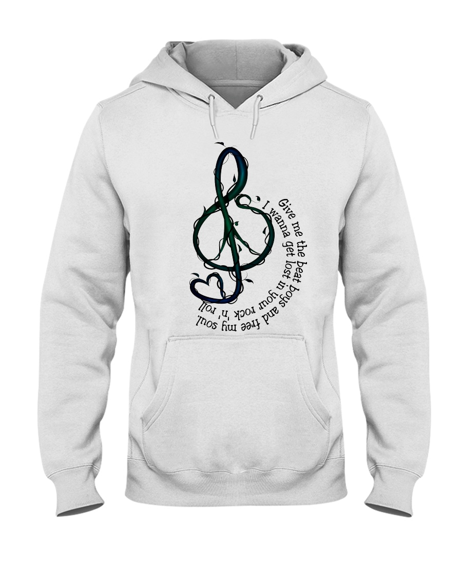 Rock And Roll Peace Love Music Hippie  Hooded Sweatshirt