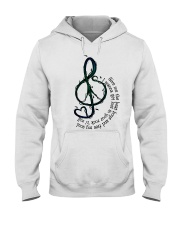 Rock And Roll Peace Love Music Hippie  Hooded Sweatshirt front
